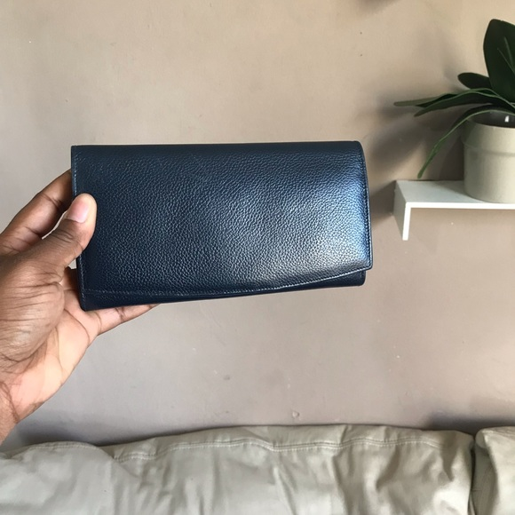 Coach Handbags - SOLDCoach Leather Wallet Blue Change Purse Vintage